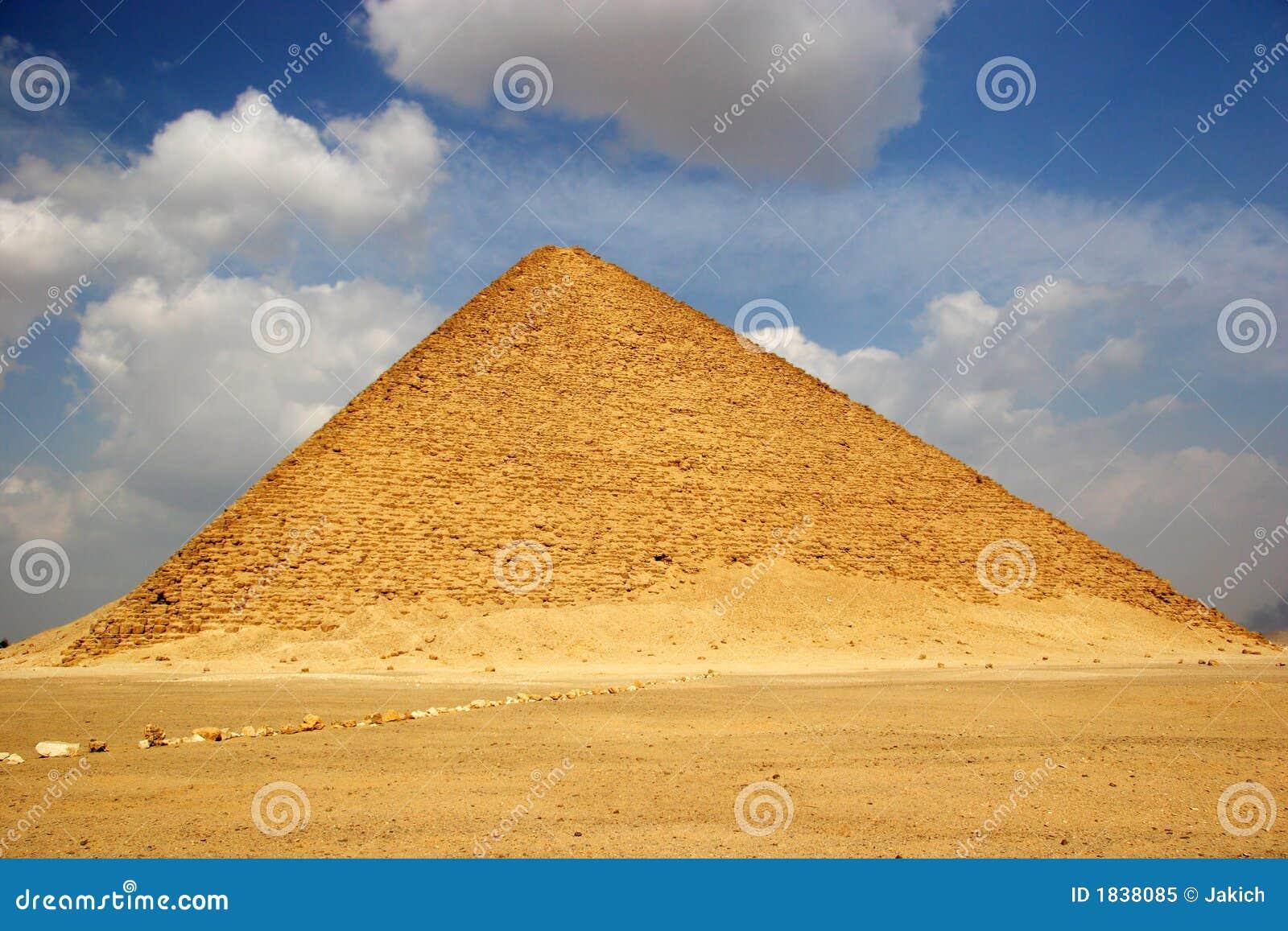 A pirâmide vermelha de Dahshur em Egipto