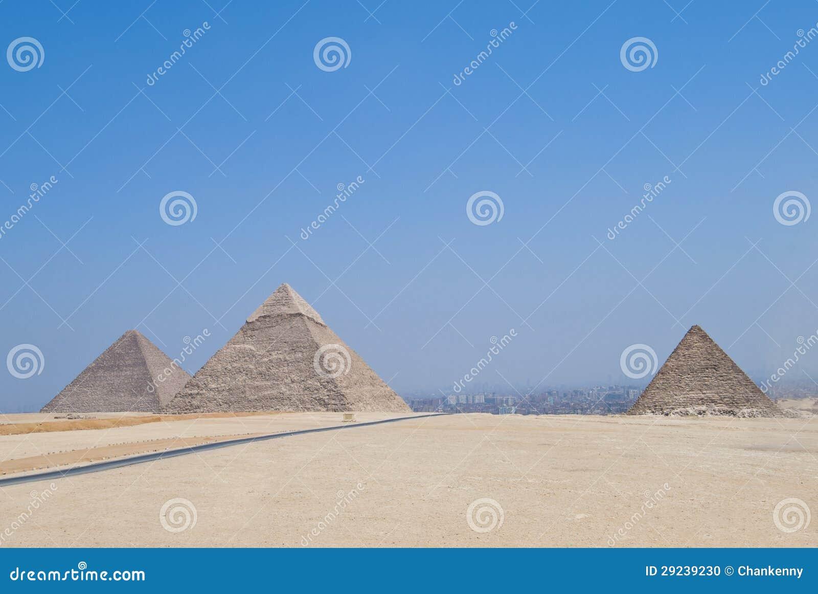Download Pirâmides egípcias foto de stock. Imagem de pirâmides - 29239230