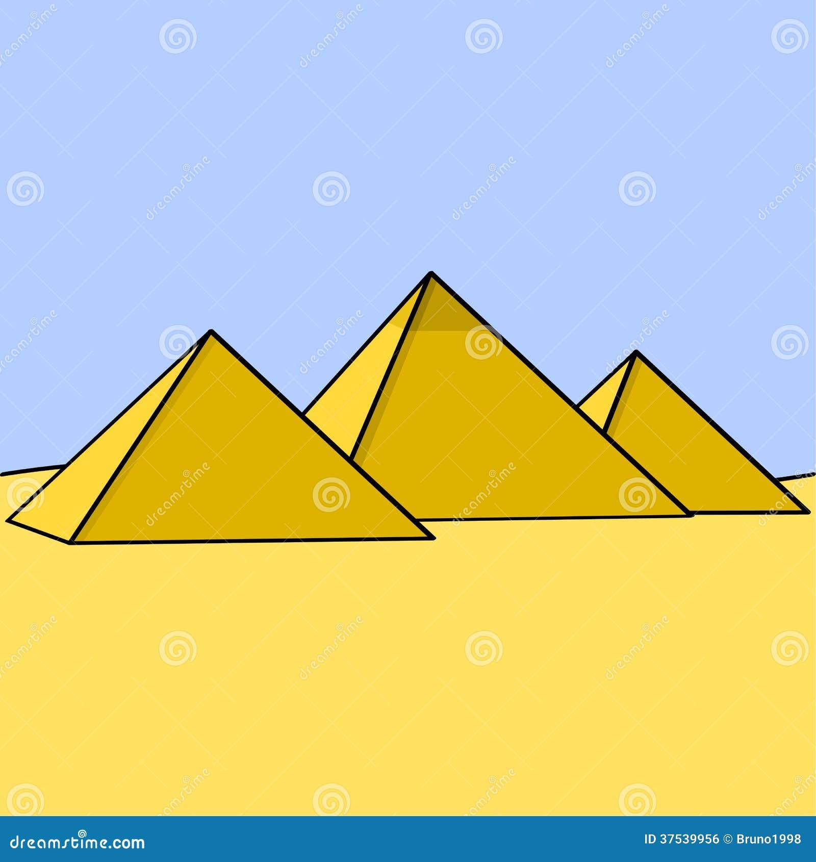 Piramides Egipcias Ilustracao Do Vetor Ilustracao De Colossal