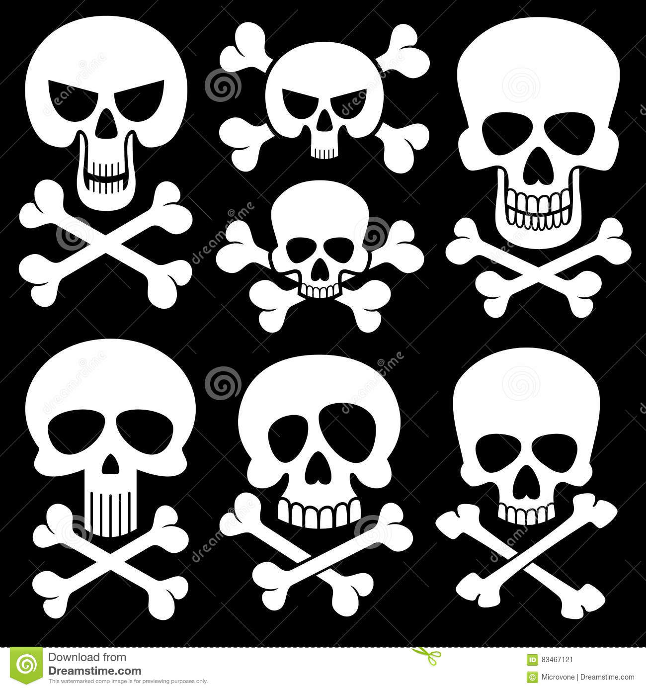 Skull And Crossbones. Vector Royalty-Free Stock Photo ...