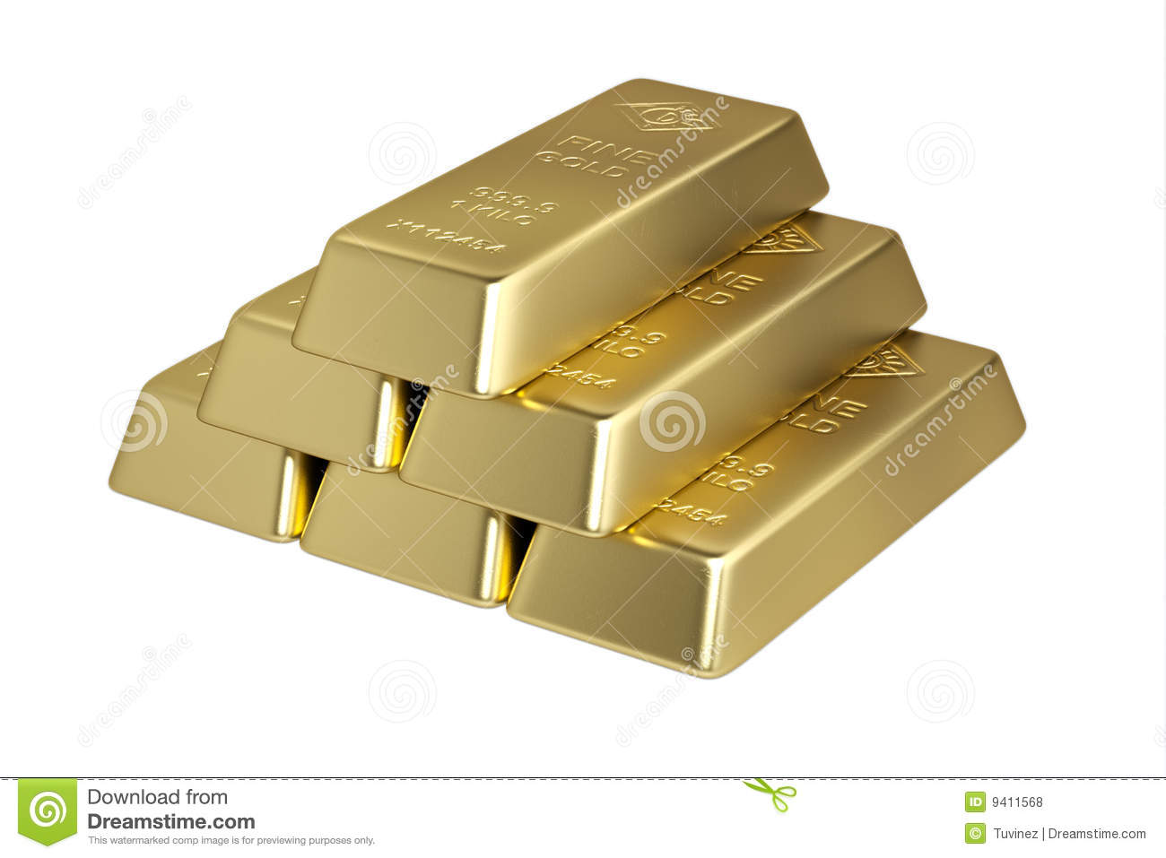 Piramide From 1 KILO Bars Of Fine Gold Royalty Free Stock Photos ...