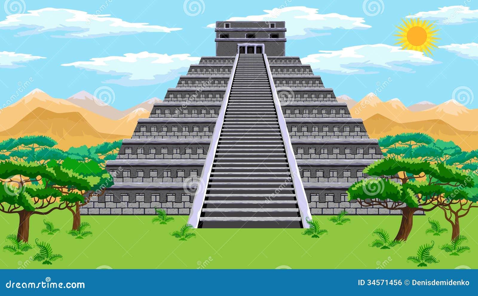 Piramide Azteca Illustrazione Vettoriale Immagine Di