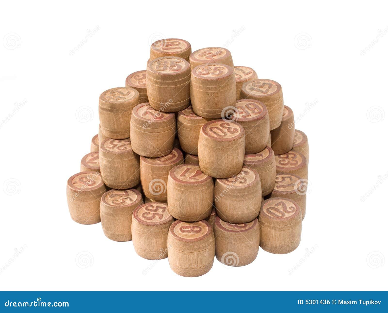 Download Piramide Del Gioco Del Lotto Isolata Su Bianco Fotografia Stock - Immagine di ricreazione, intrattenimento: 5301436