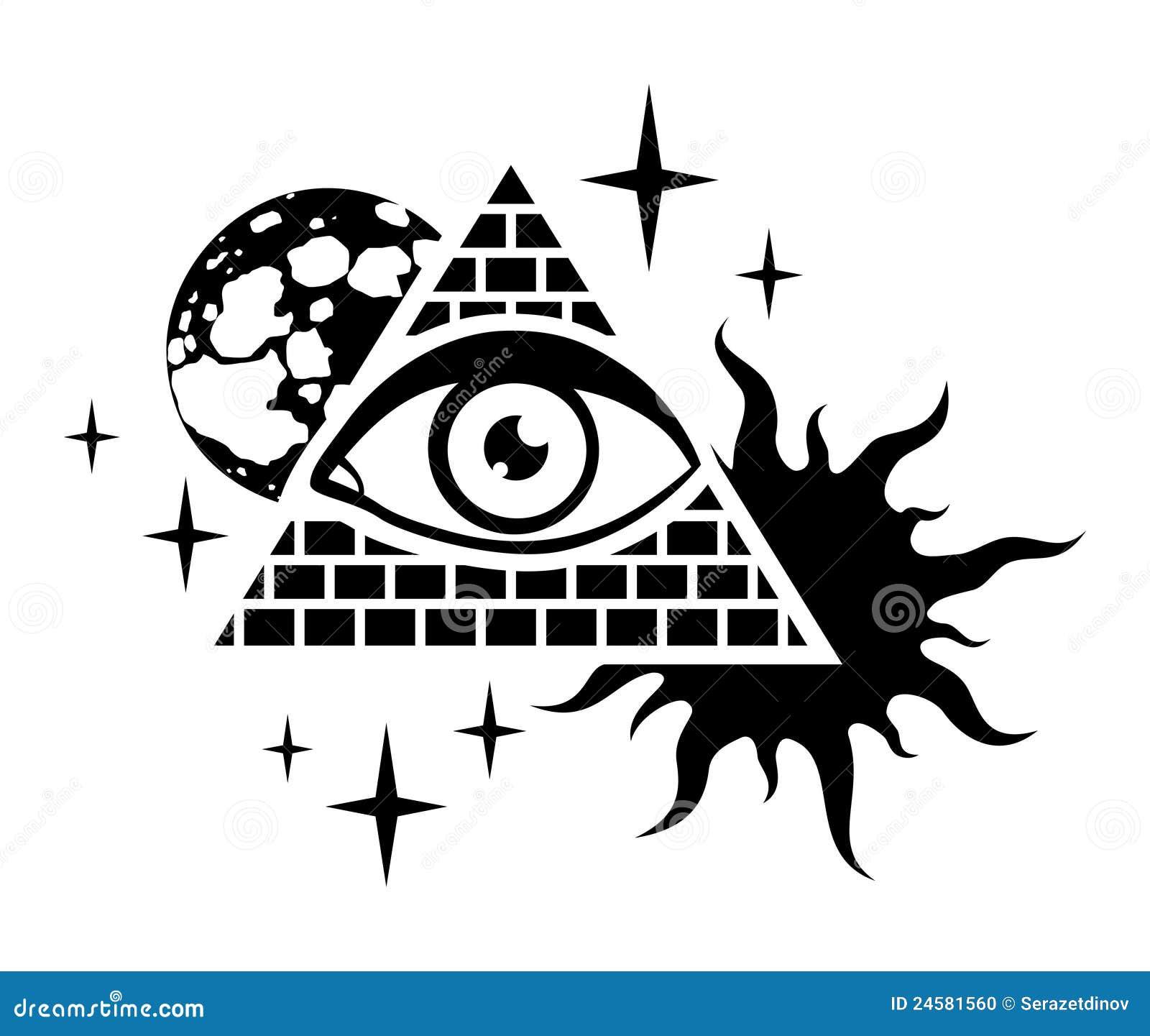 Piramide en het oog