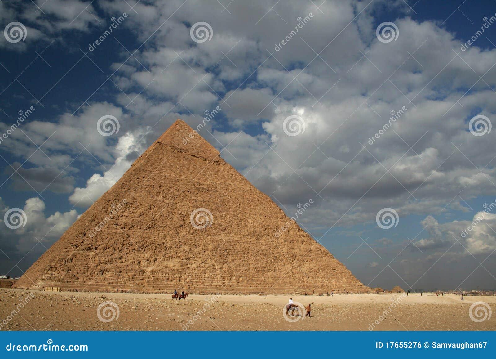 Piramide in Giza dichtbij Kaïro