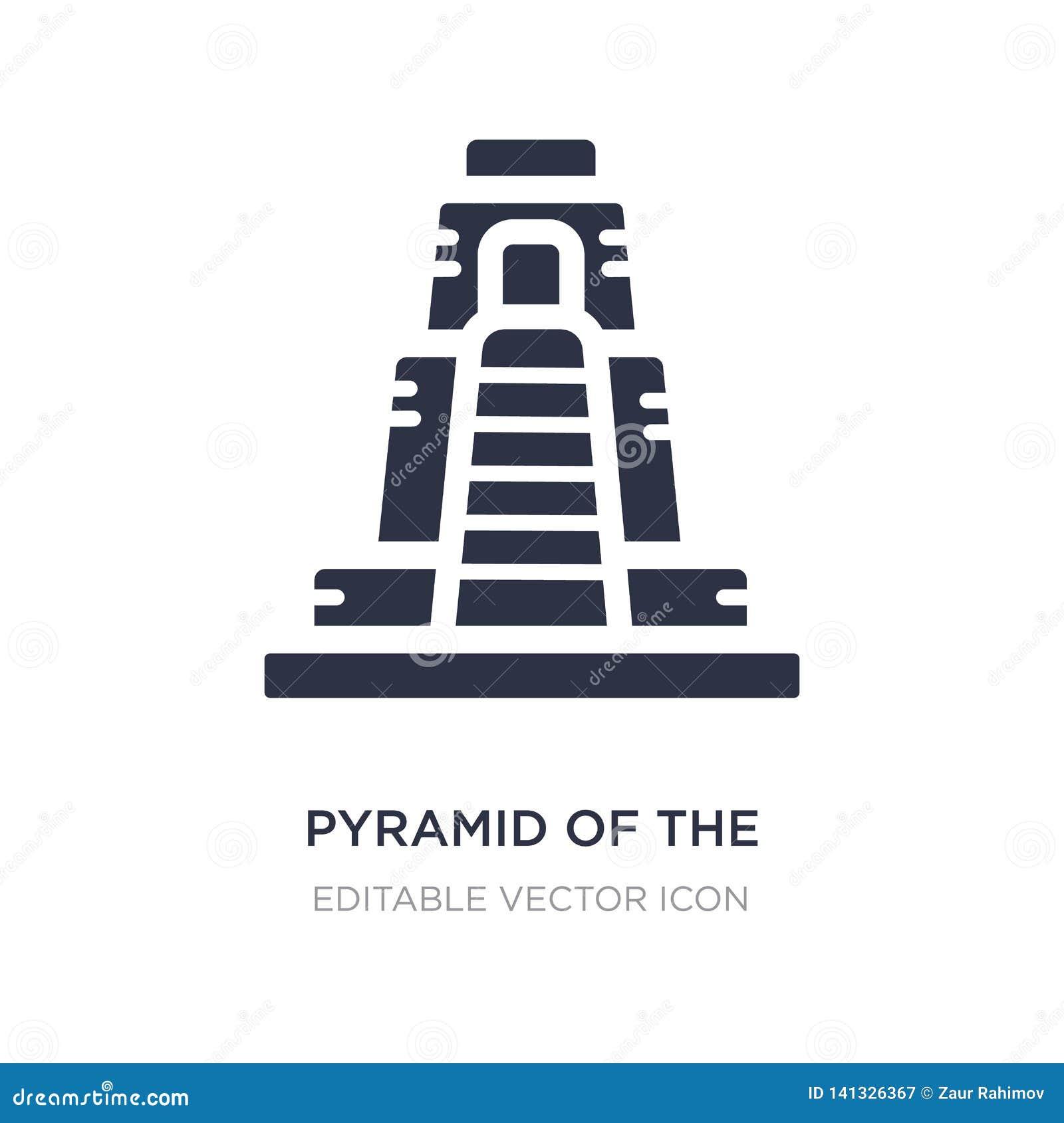 Piramide van het tovenaarpictogram op witte achtergrond Eenvoudige elementenillustratie van Monumentenconcept