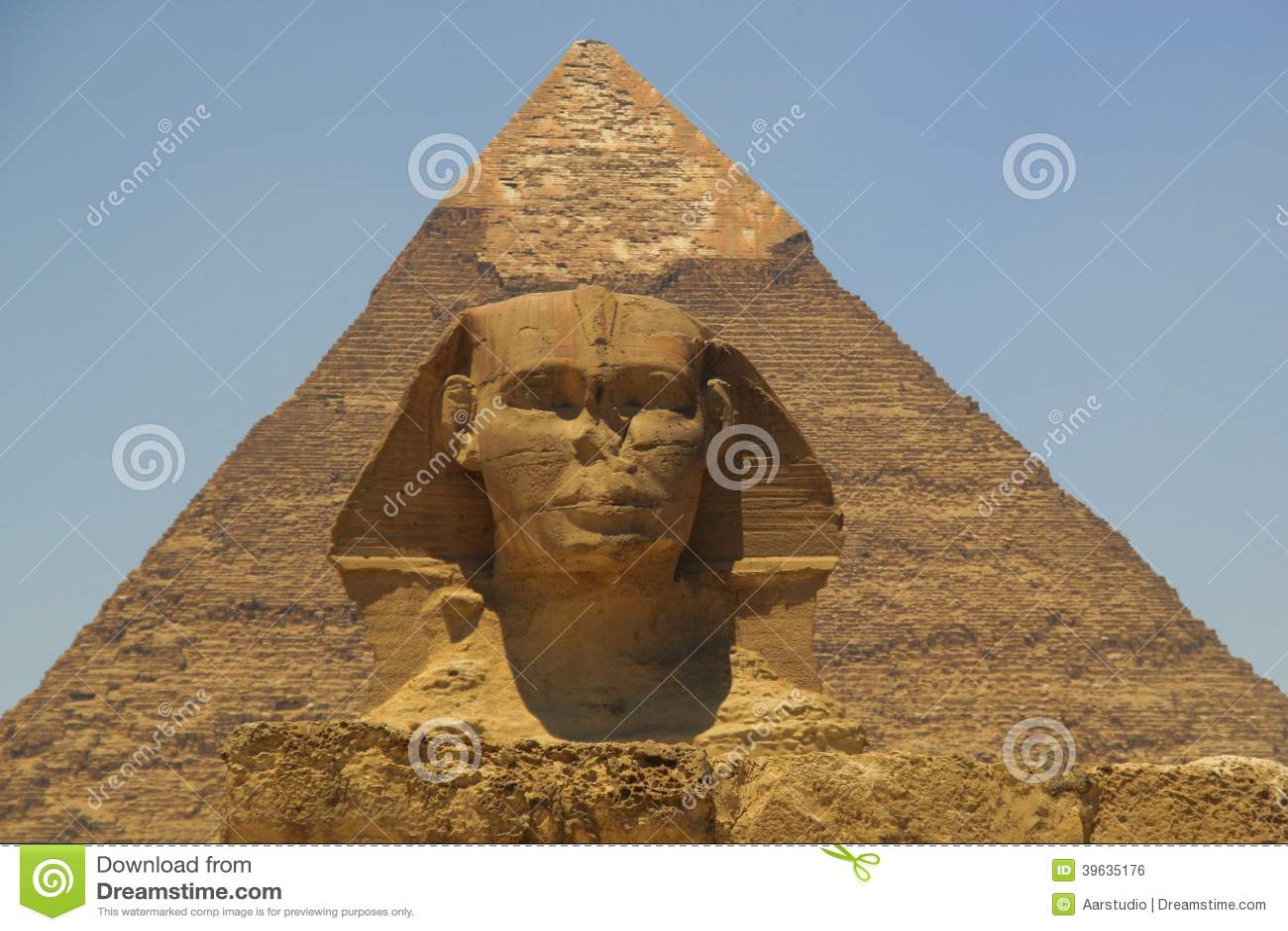 Piramide van Khafre (Chepren) en de Sfinx in Giza - Kaïro - Egypte