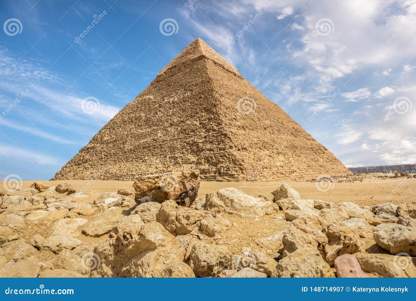 Piramide van Khafre en stenen