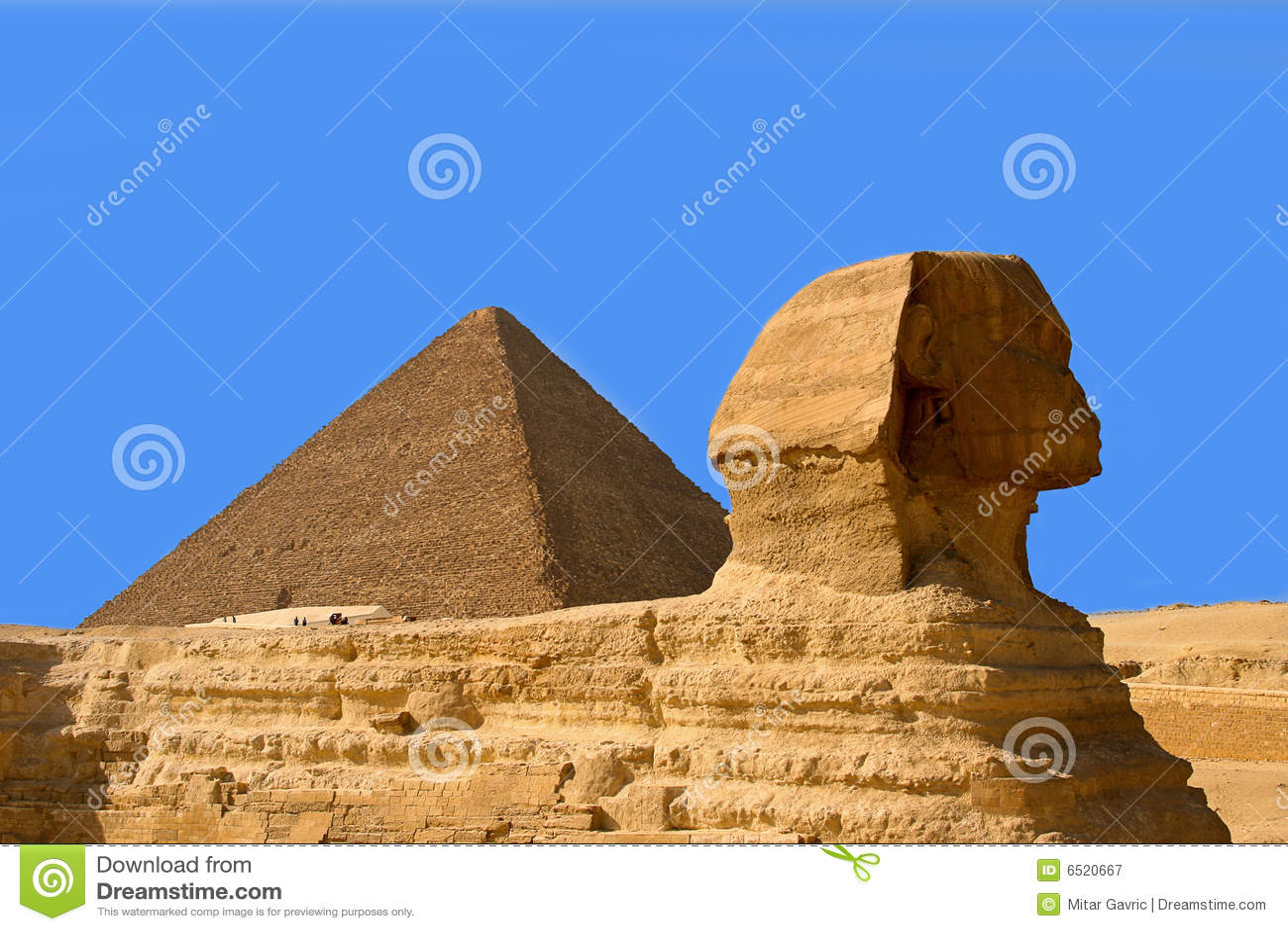 Piramides en sfinx