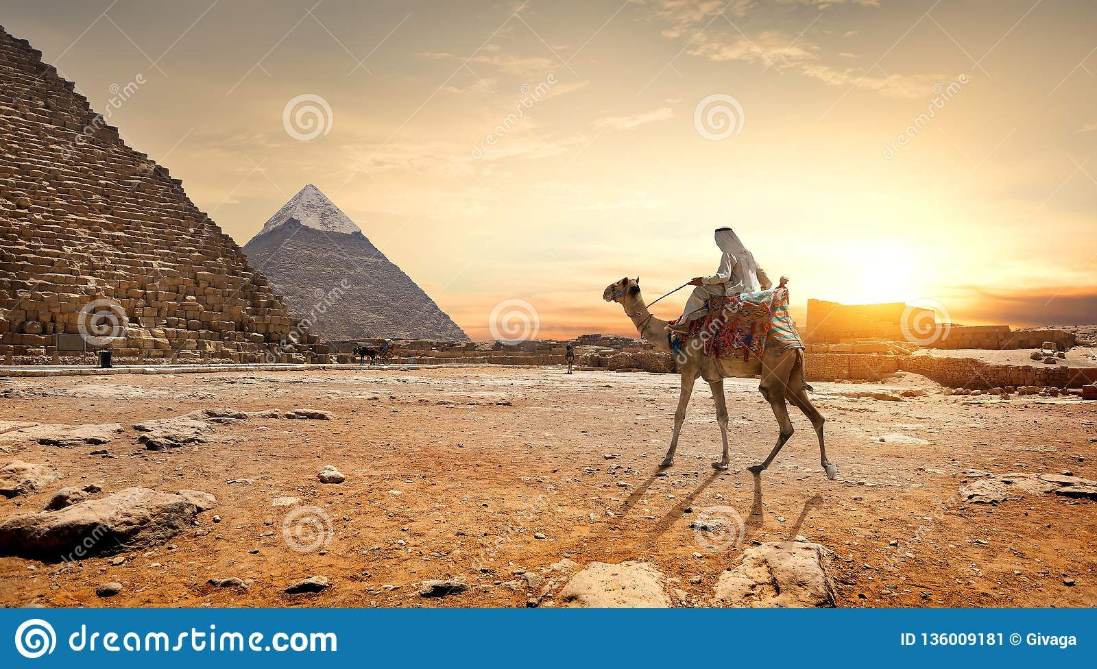 Piramideslandschap Egypte