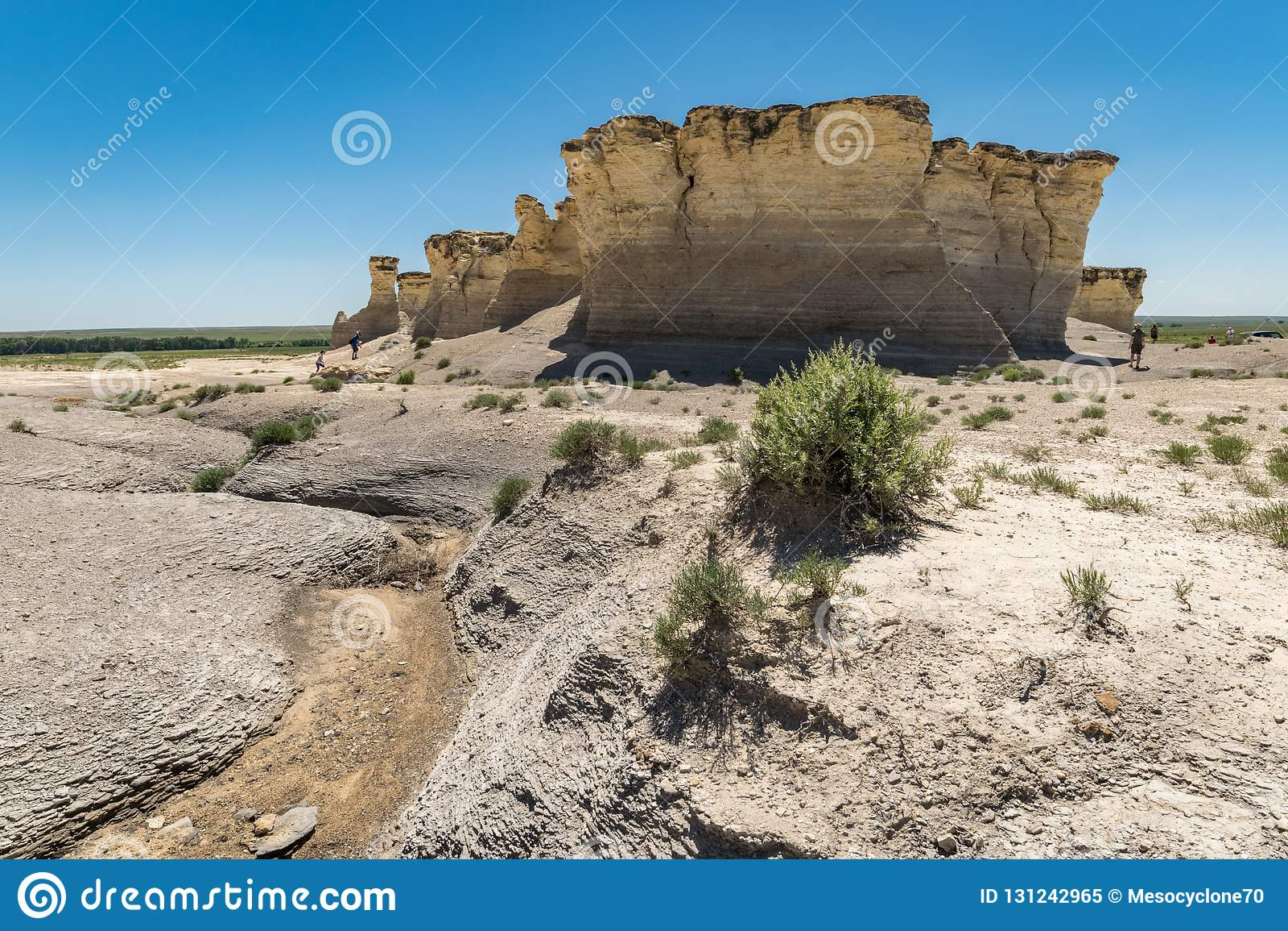 Piramidi del gesso delle rocce del monumento in Kansas occidentale