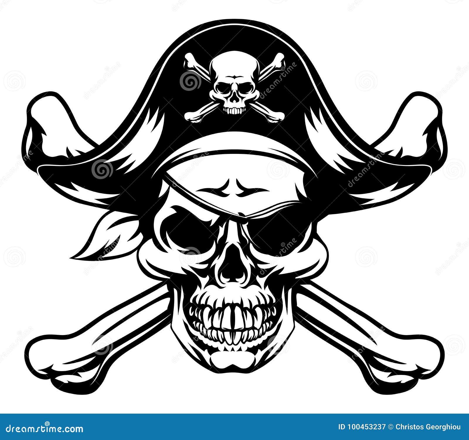 Piratów crossbones i czaszka