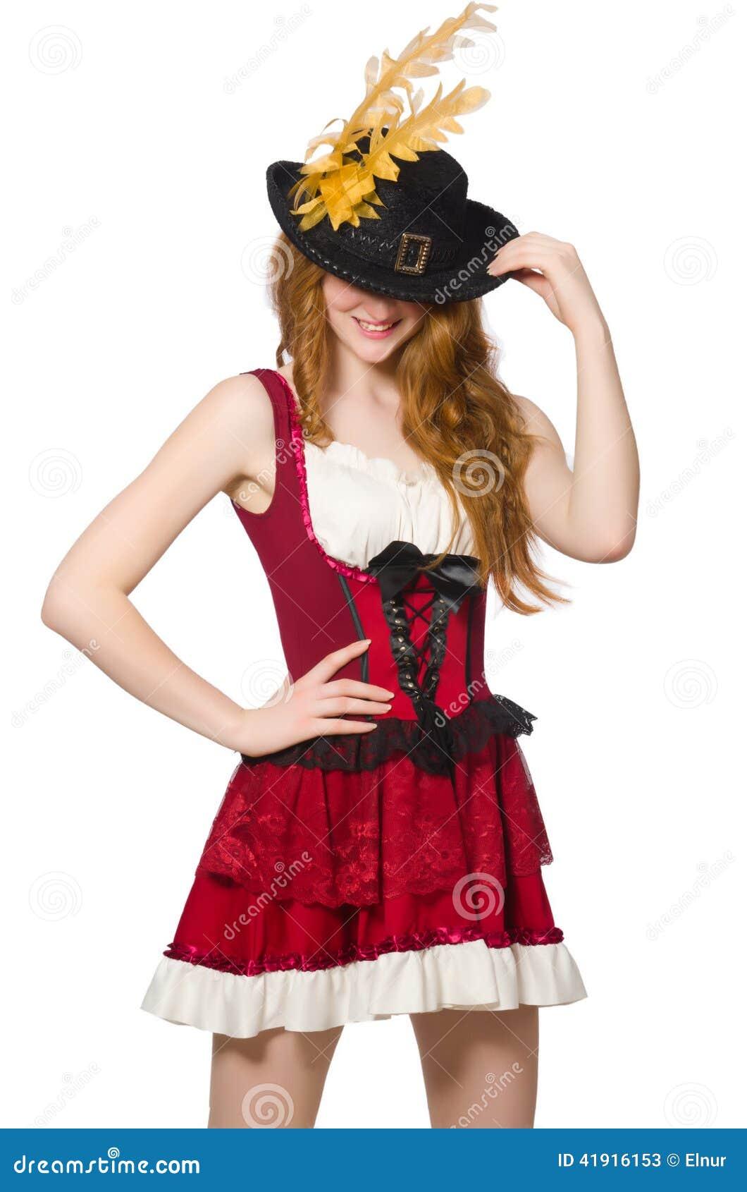 Pirata de la mujer aislado