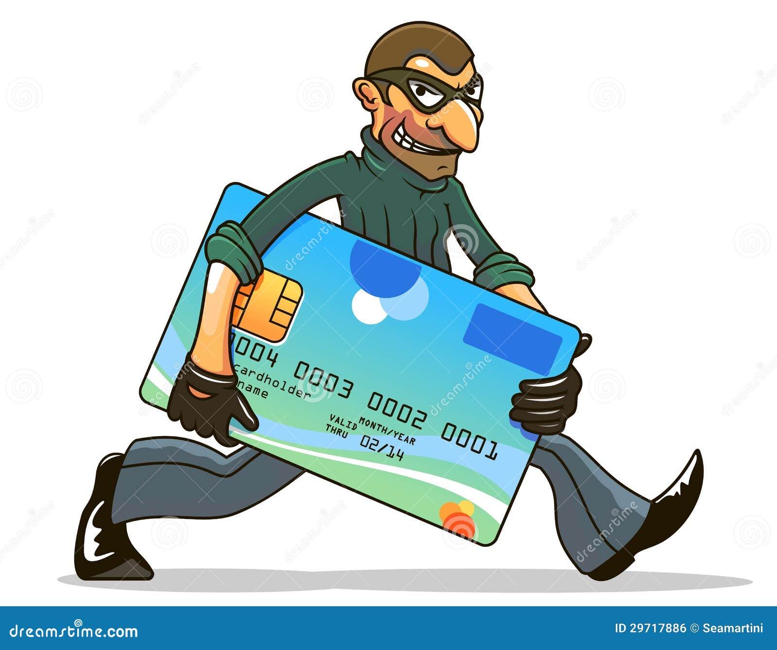 Pirata informático o ladrón que roba crédito