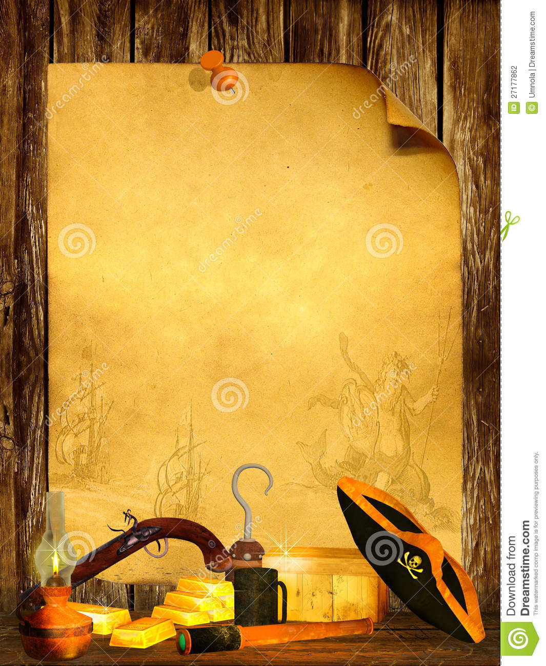 pirate background stock illustration  image of illustration