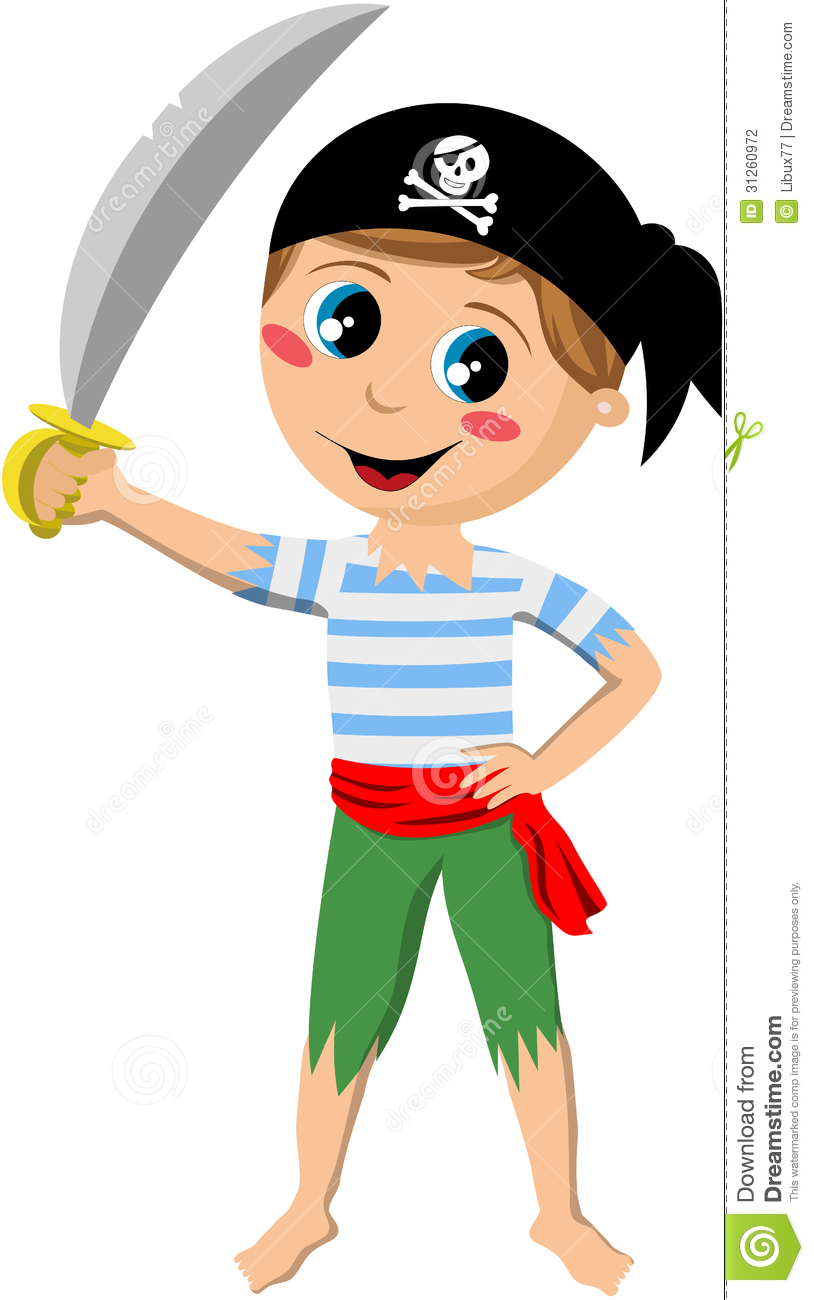 pirate boy holding sword stock photography image 31260972