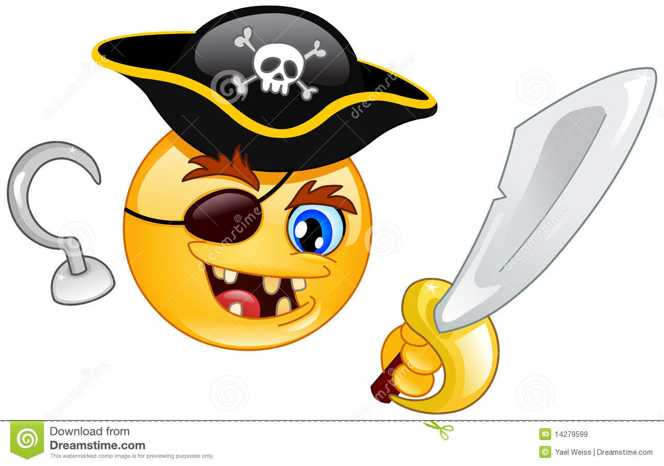 Pirate Emoticon Royalty Free Stock Images - Image: 14279599