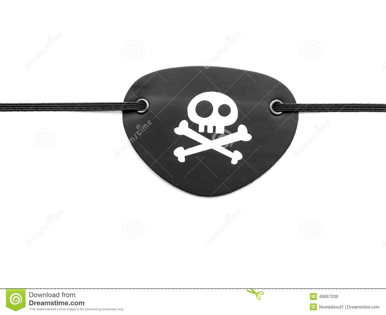 Pirate eyepatch on white stock illustration. Image of ...