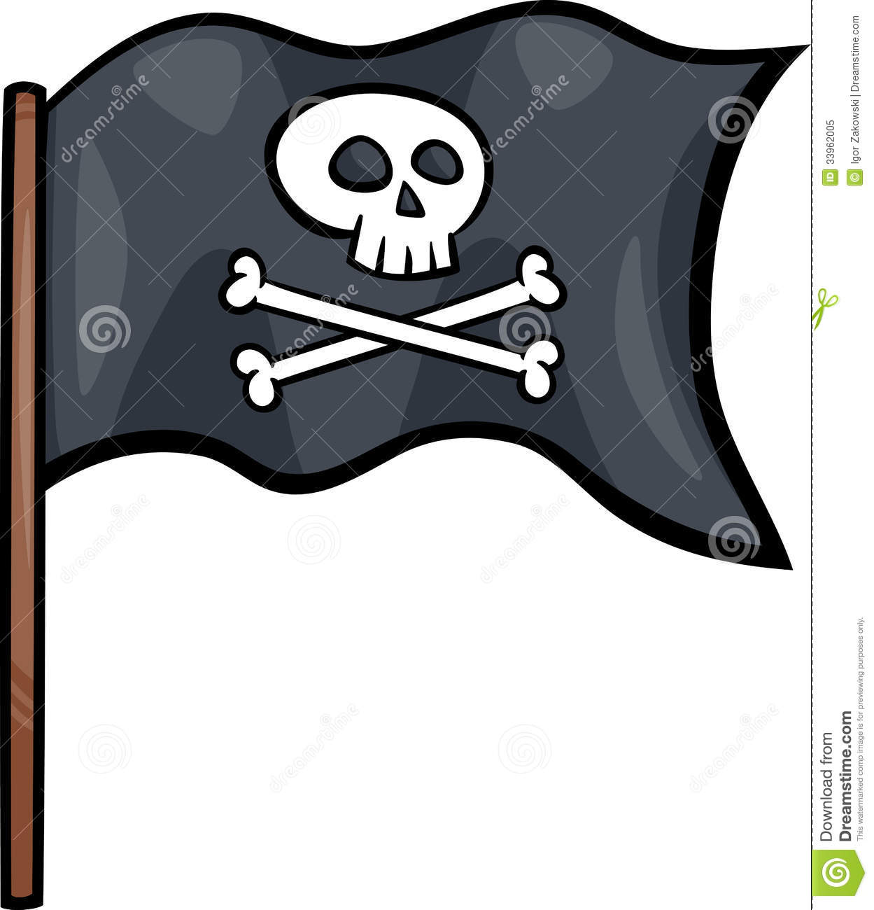 pirate flag cartoon clip art stock vector illustration of rh dreamstime com pirate flag clipart black and white Pirate Flag Outline