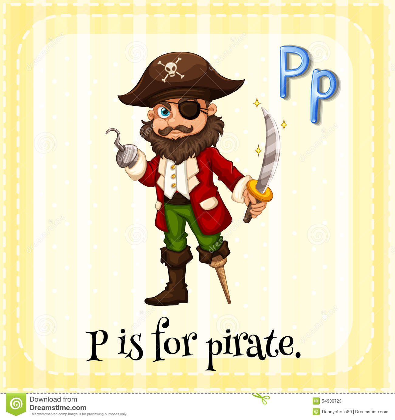 Pirate Stock Vector Image 54330723