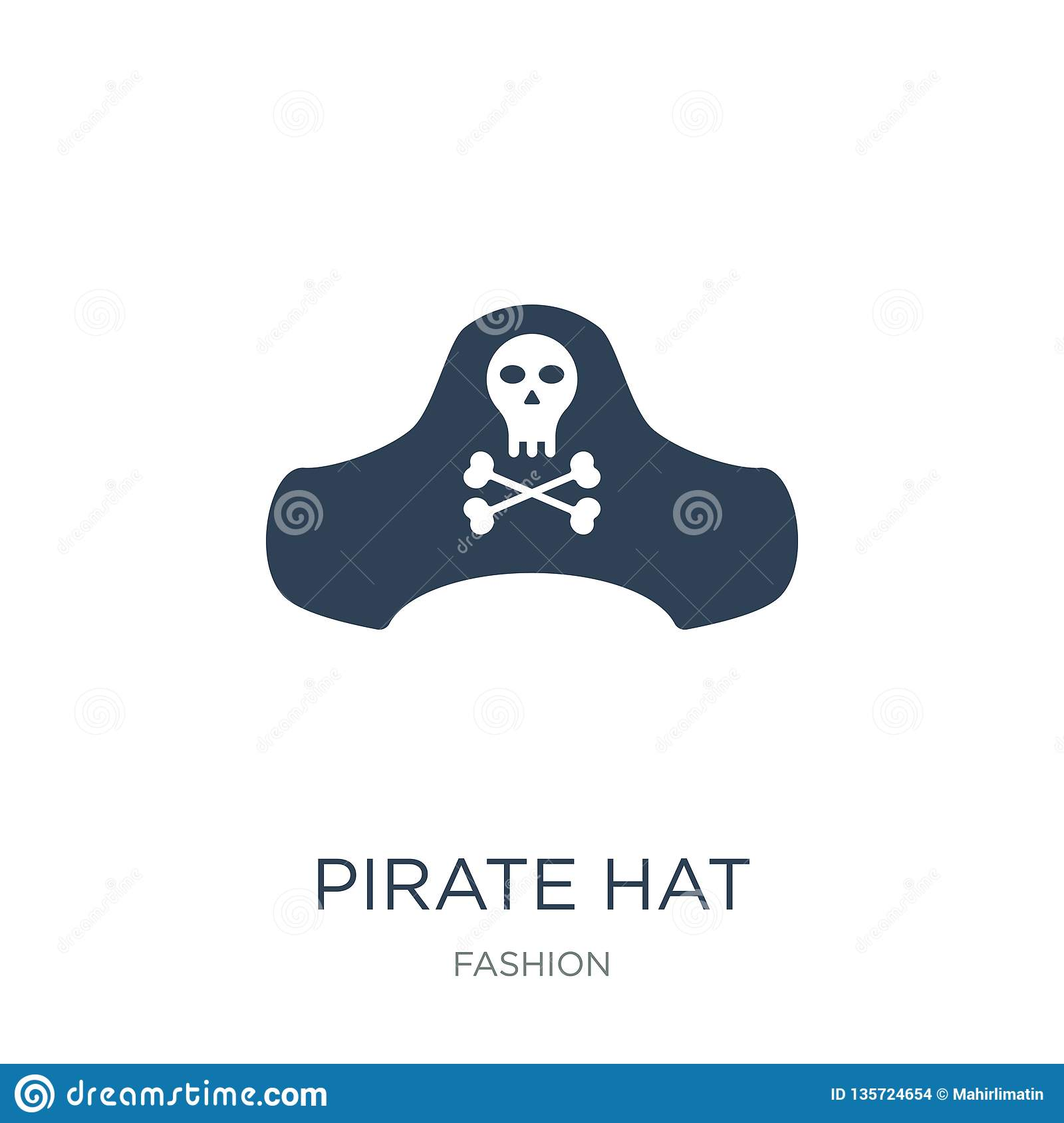7e10693f pirate hat icon in trendy design style. pirate hat icon isolated on white  background. pirate hat vector icon simple and modern flat symbol for web  site, ...