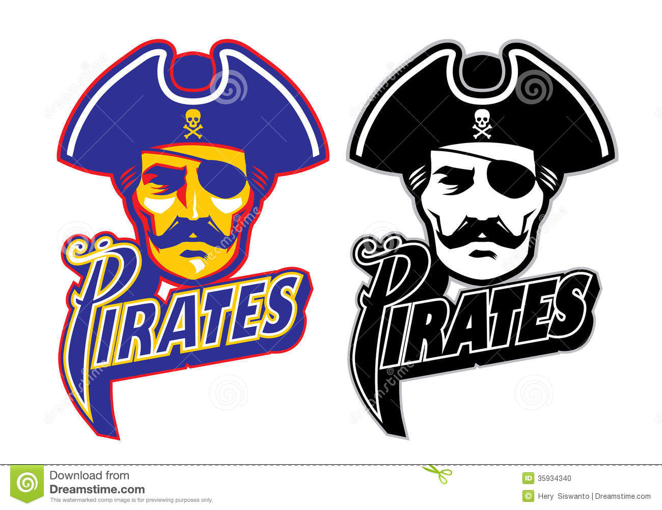 Pirate face vector - photo#21