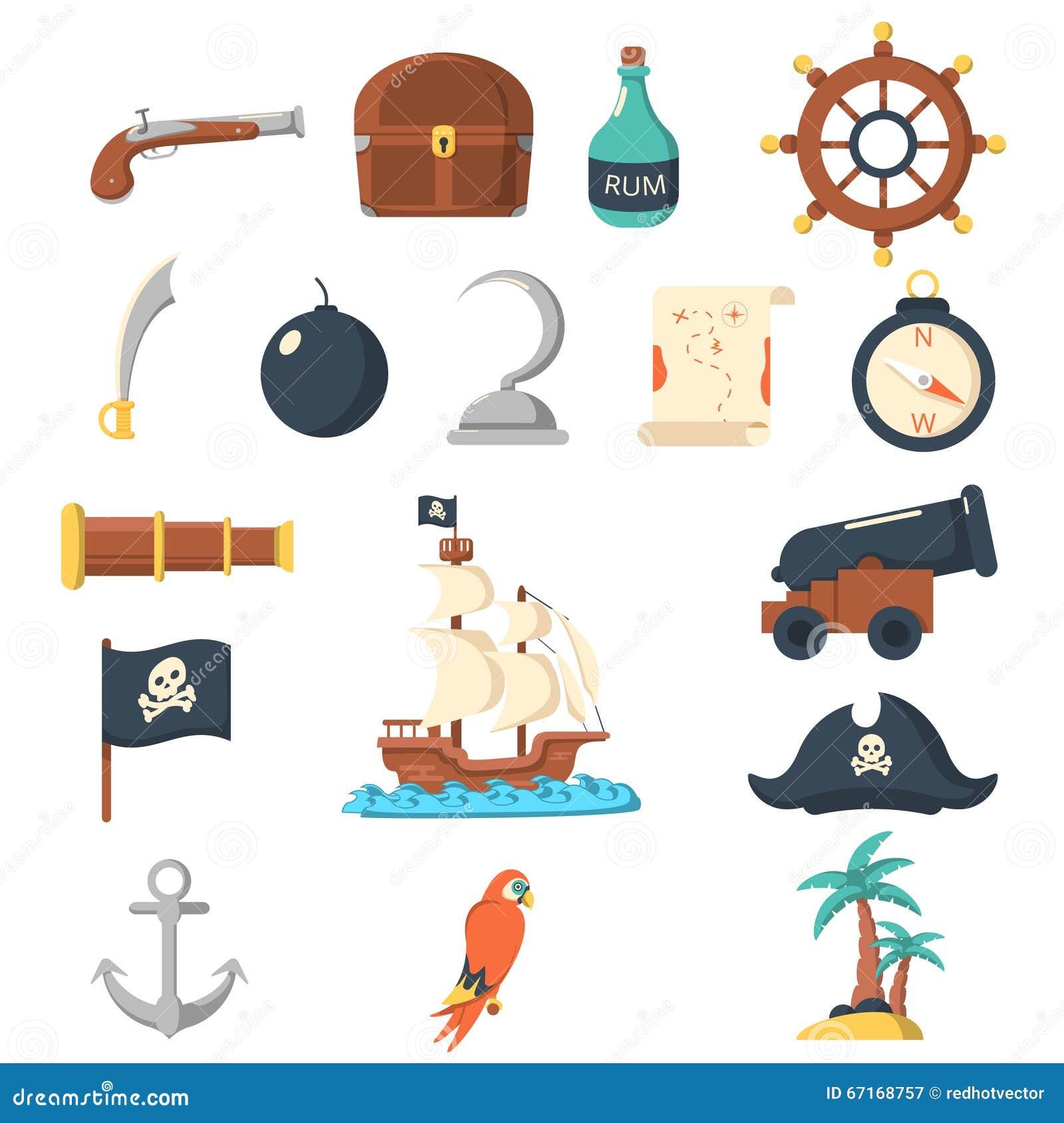 Vector Pirate Concept With Barrel Cartoon Vector ...