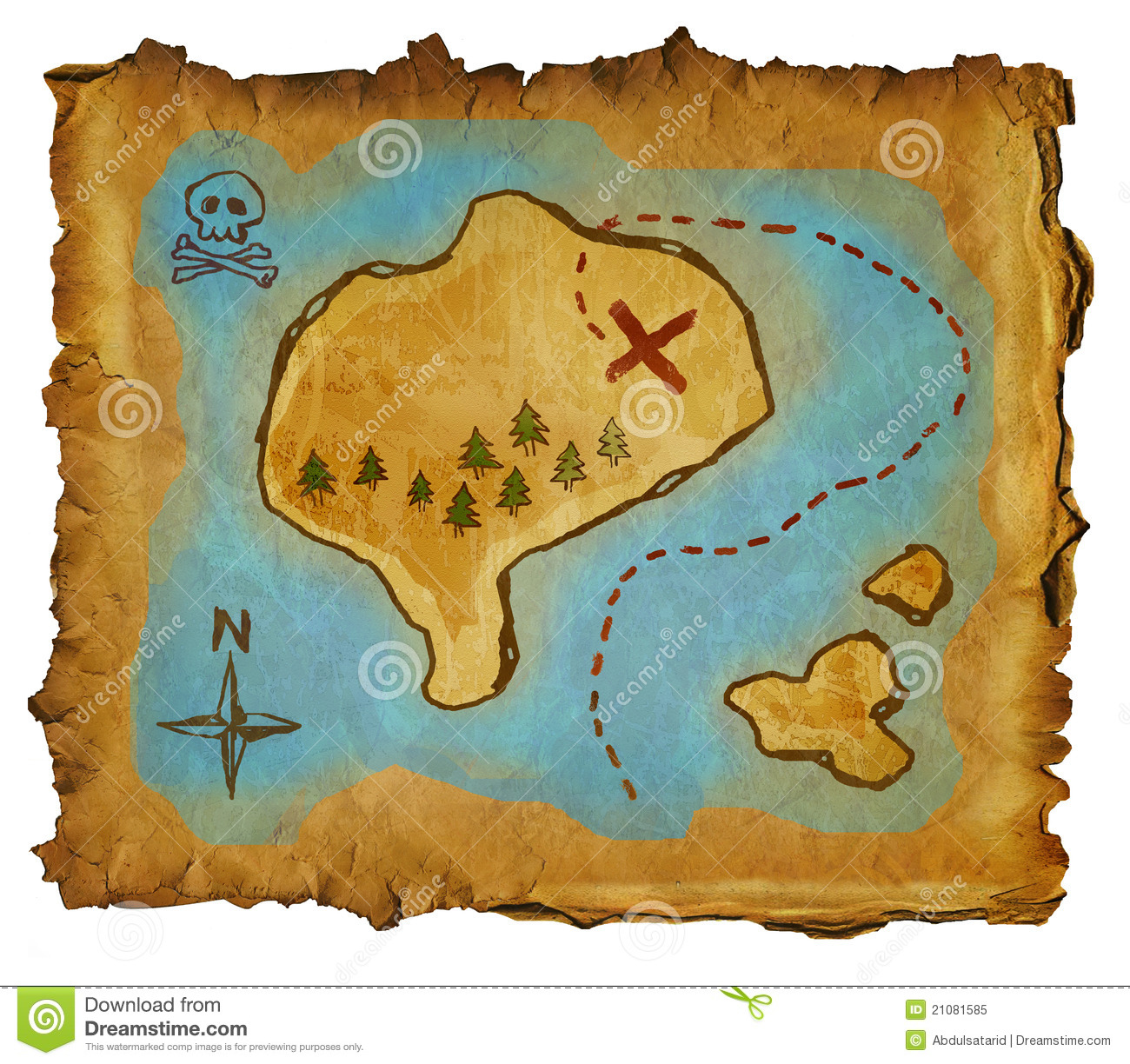 Pirate Map Royalty Free Stock Photo - Image: 21081585
