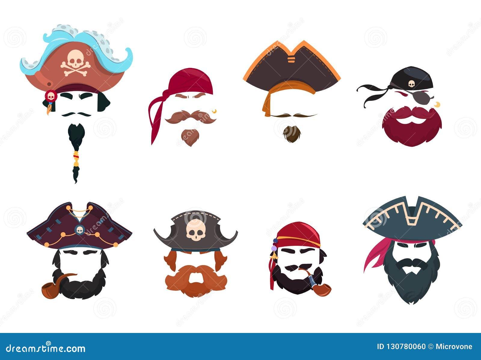 Pirate Mask  Funny Face Photo Filters  Pirates Hats, Bandana And