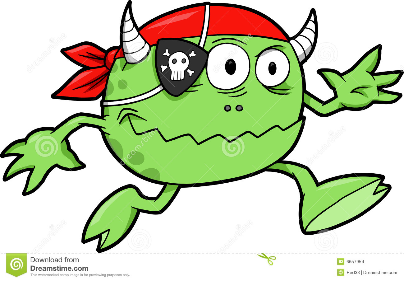 Pirate Monster Vector Stock Images Image 6657954