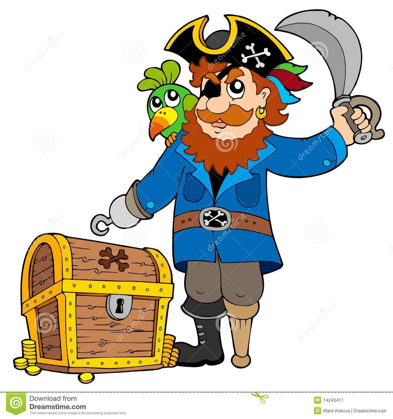pirate with old treasure chest royalty free stock Treasure Chest Clip Art open treasure chest clipart free