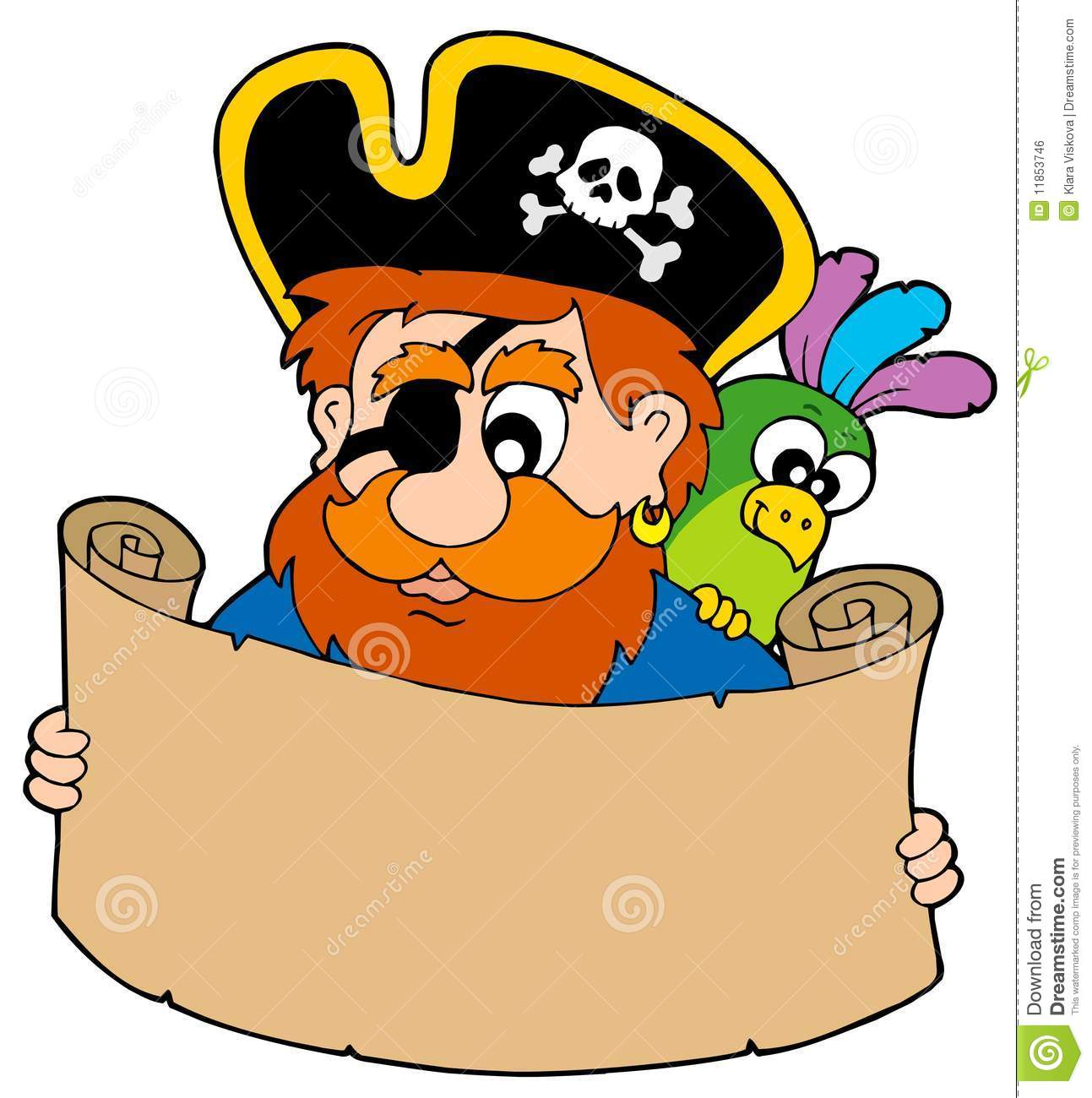 Pirate Reading Treasure Map Royalty Free Stock Image - Image: 11853746