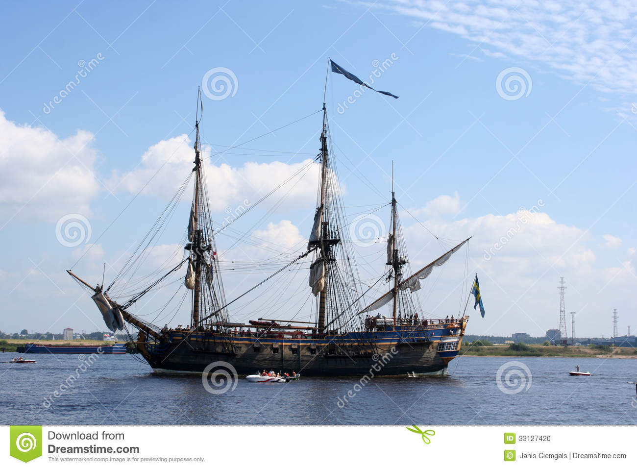 Pirate Sailing ship stock photo. Image of recreation ...