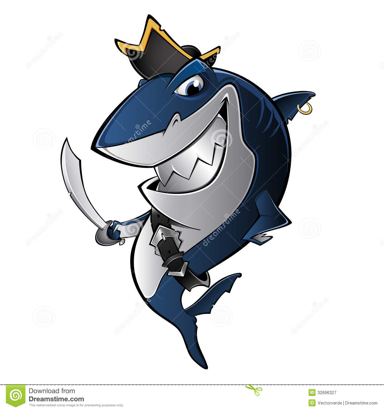 pirate shark royalty free stock photography image 32696327