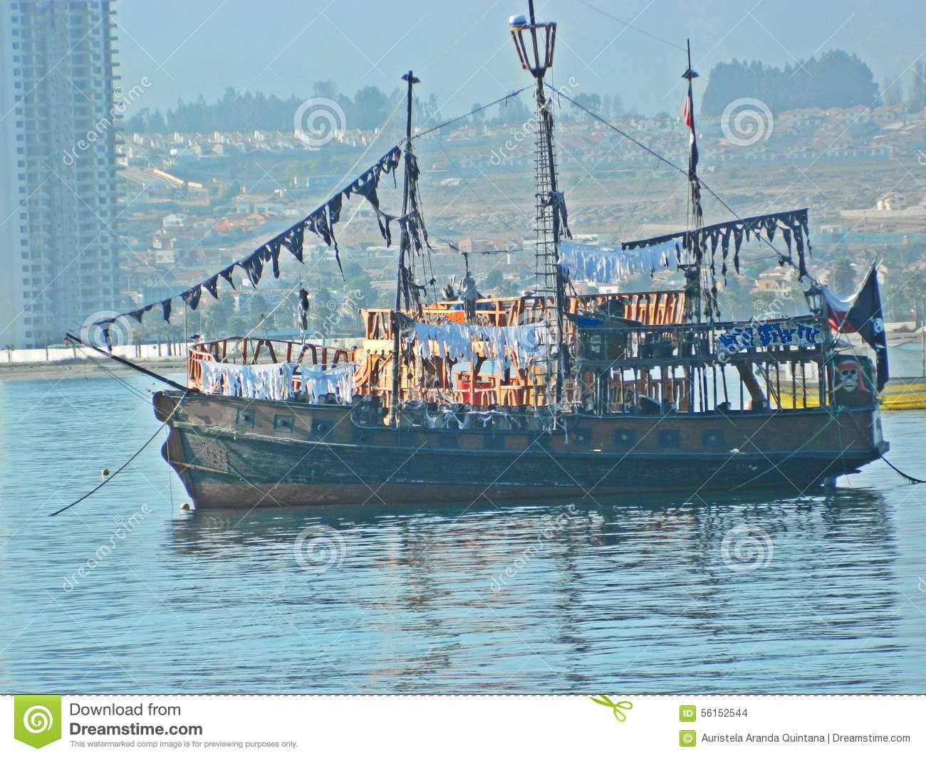 Pirate Ship on the beach in Chile