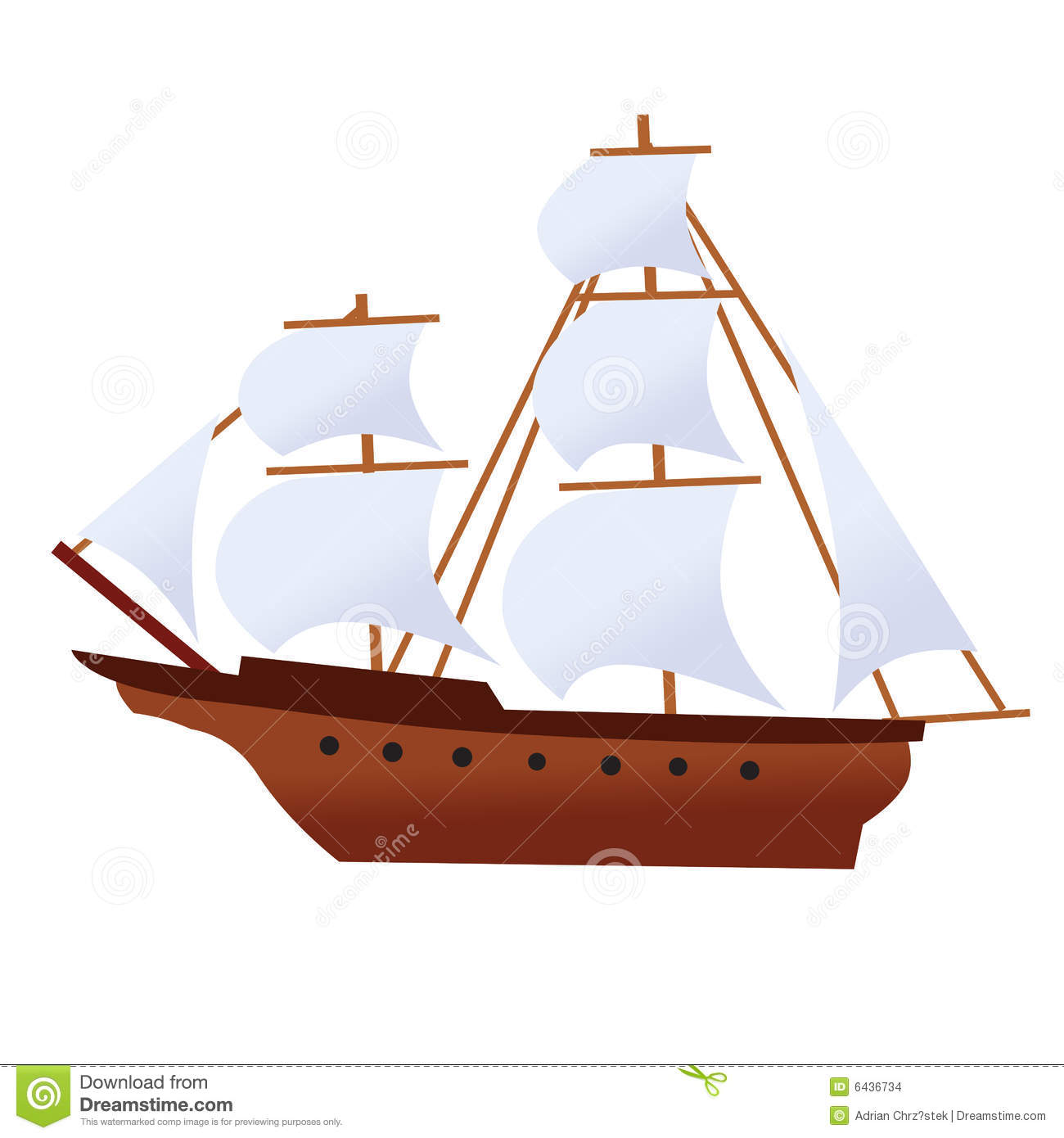 Pirate Ship Corsair Vessel Ghost Ship Stock Images - Image: 6436734