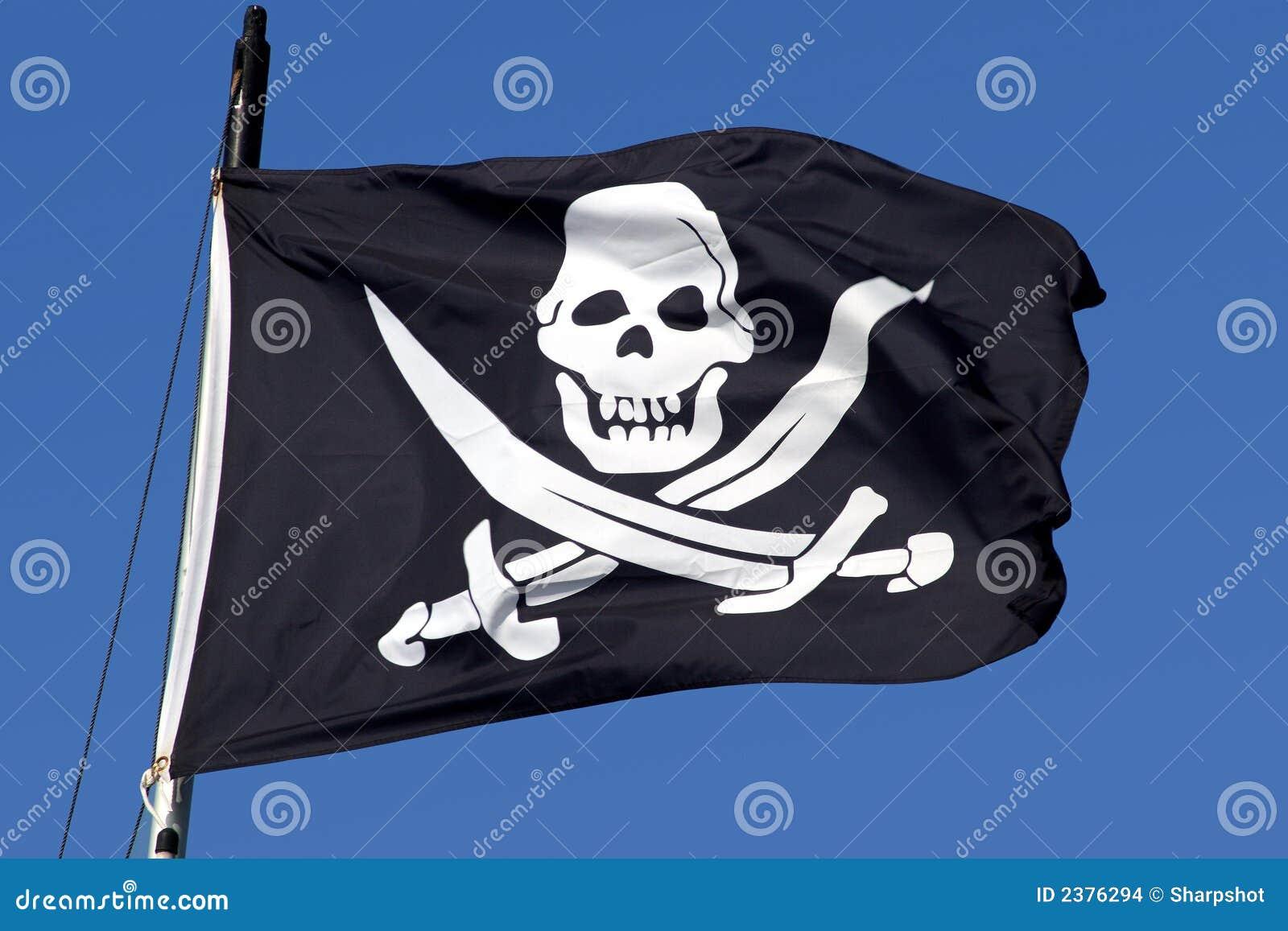 A pirate ship flag.
