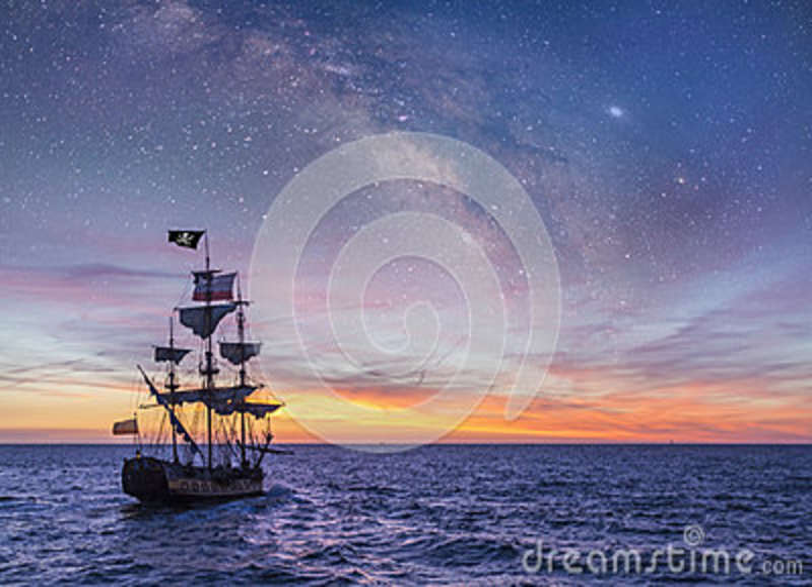 Download Pirate Ship stock image. Image of mast, dark, cruise - 89399585
