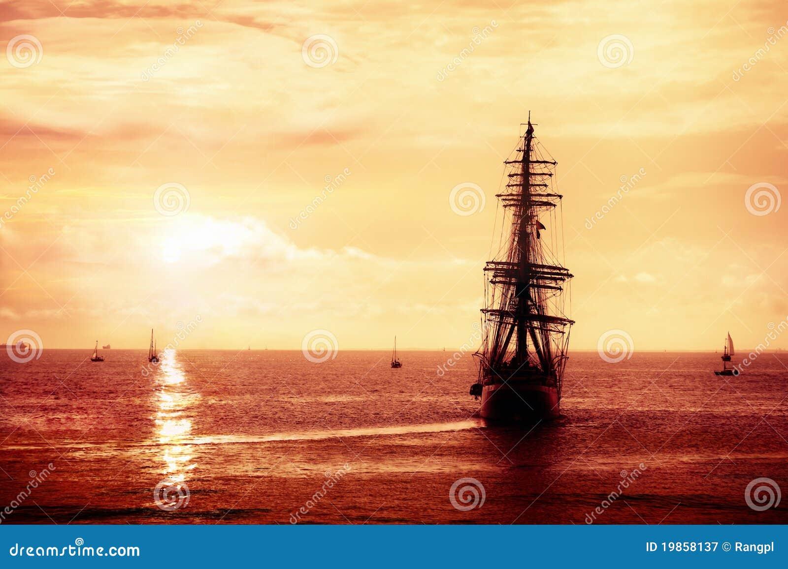 Pirate ship sailing