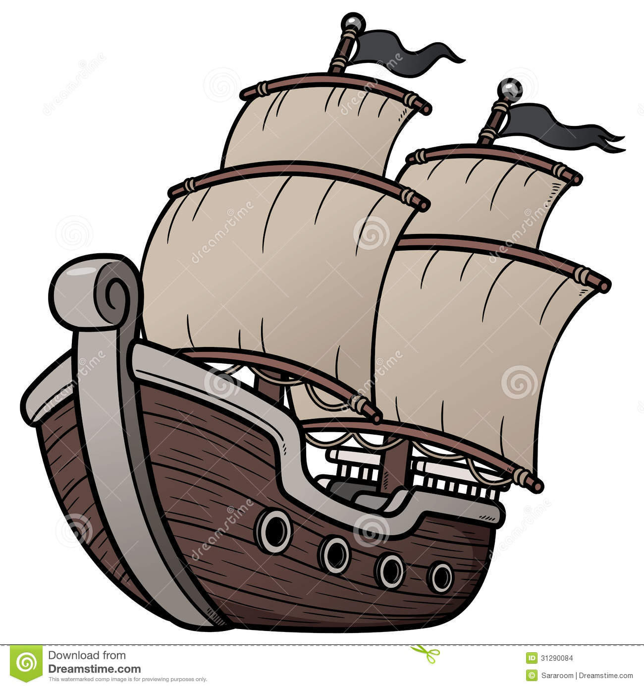 pirate ship stock images image 31290084