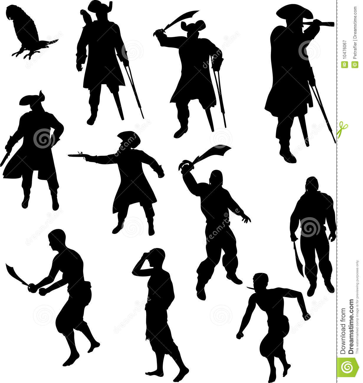 Pirate Silhouettes Royalty Free Stock Photography - Image ...