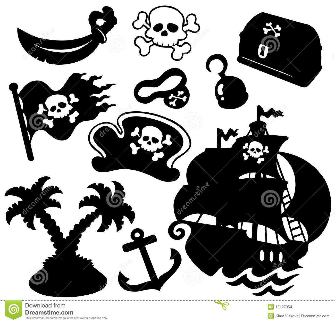 Pirate Silhouettes Collection Stock Images  Image 13127954