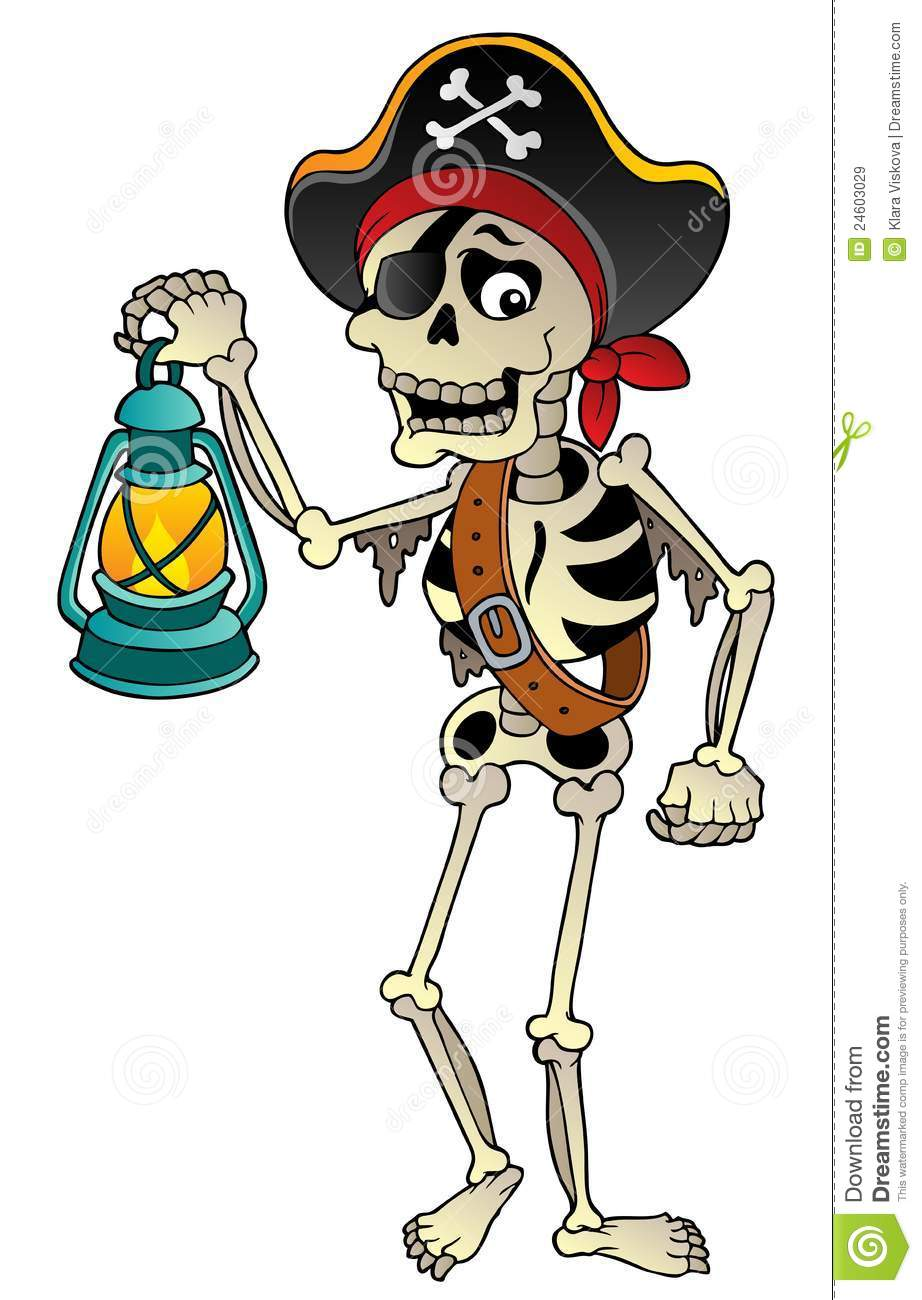How To Filibuster >> Pirate Skeleton With Lantern Royalty Free Stock Images - Image: 24603029