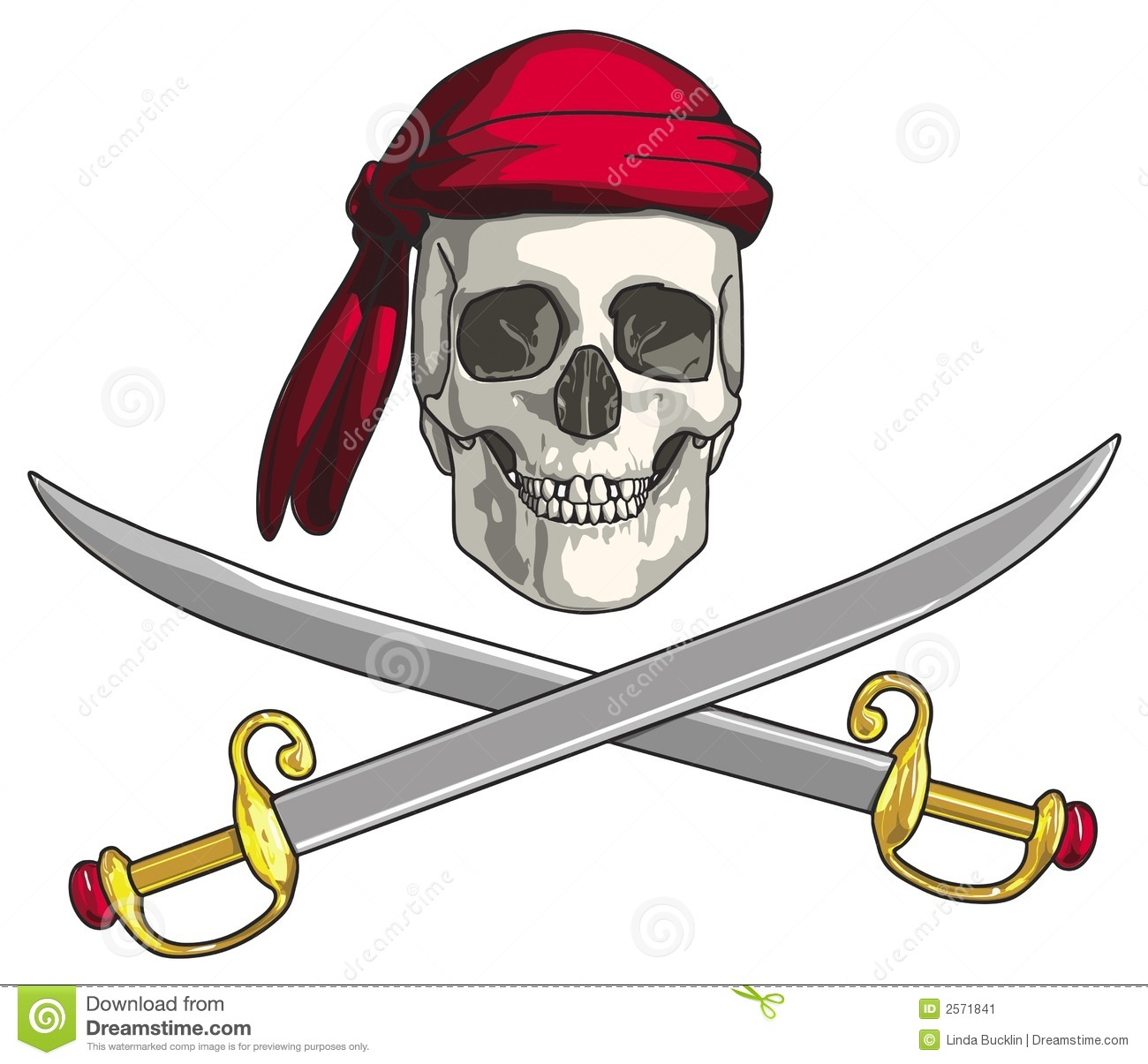 Drawing of a Pirate Skull, with crossed swords.