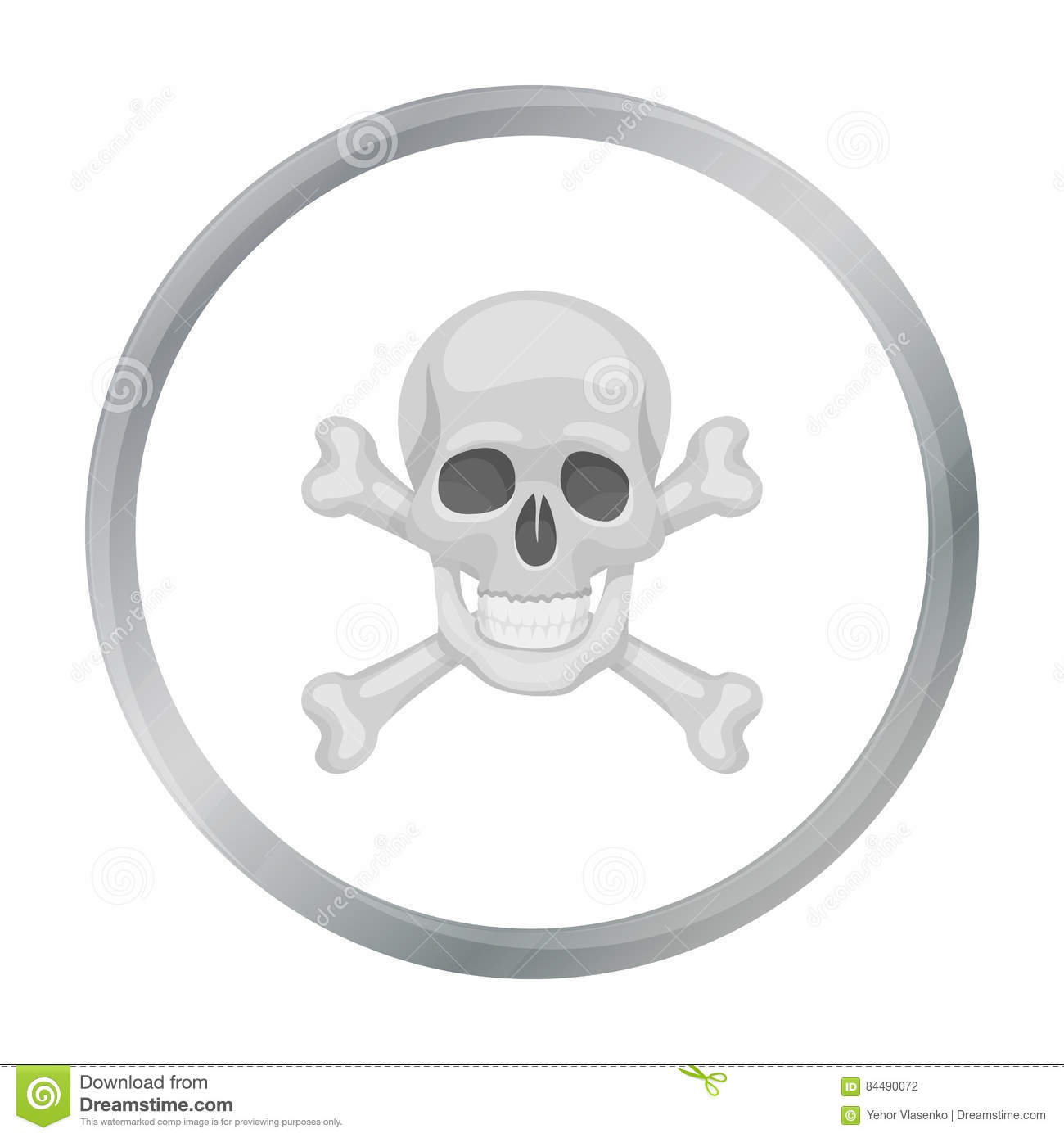 Cartoon Pirate Skull Symbol Stock Photography ...