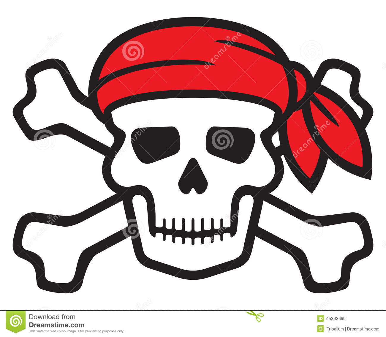 Pirates symbol, skull and cross bones, skull with crossed bones.