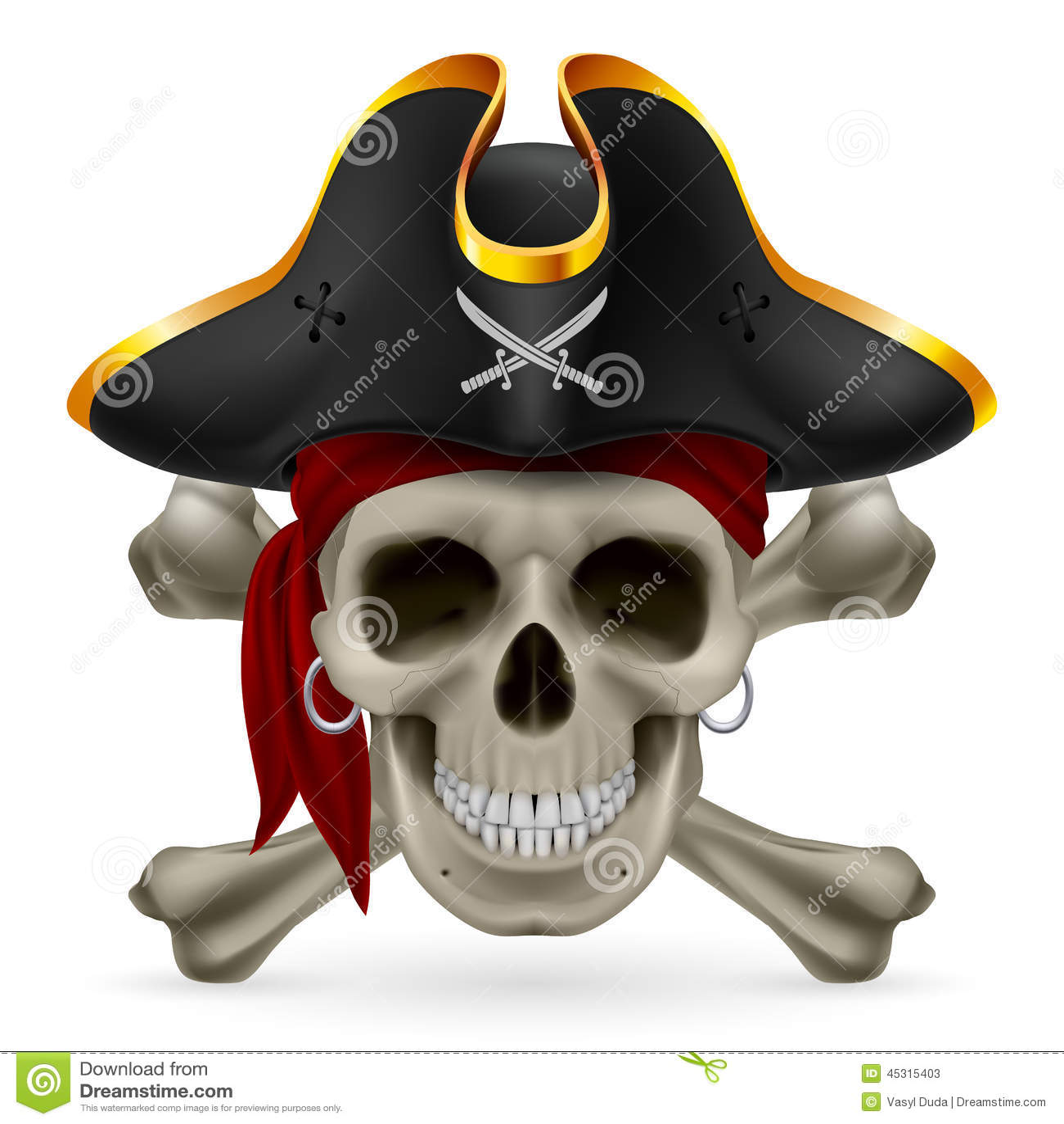 Venom Grin Vector: Pirate Skull Stock Vector
