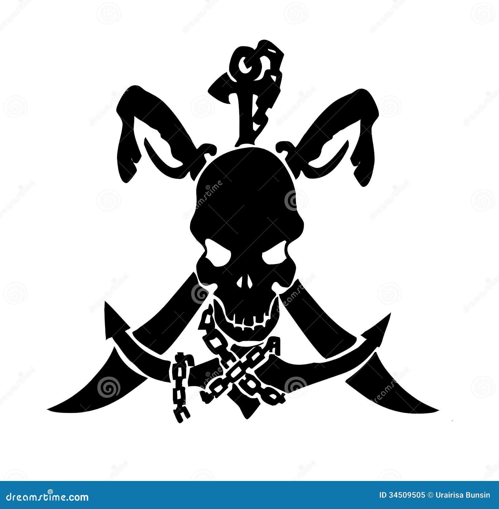 pirate skull tattoo royalty free stock photo image 34509505