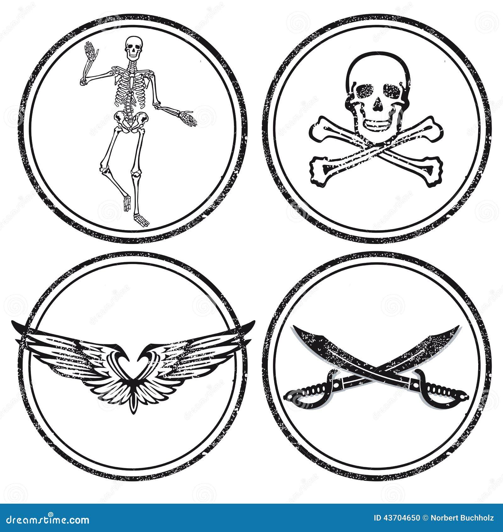 Skull Crossed Hammers Symbol