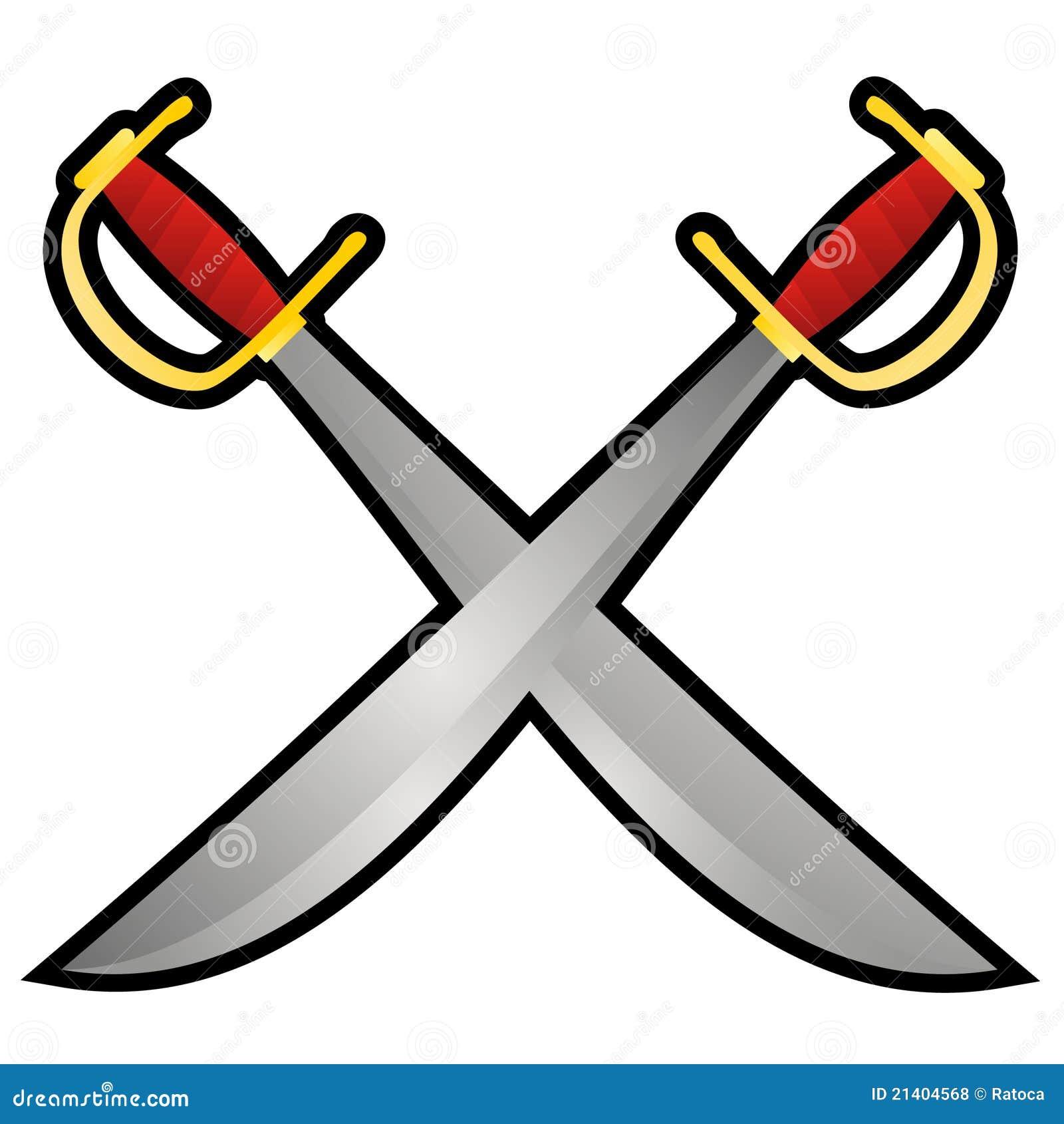 image gallery of crossed pirate swords